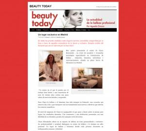 Blog de belleza profesional Beauty Today habla de Charo